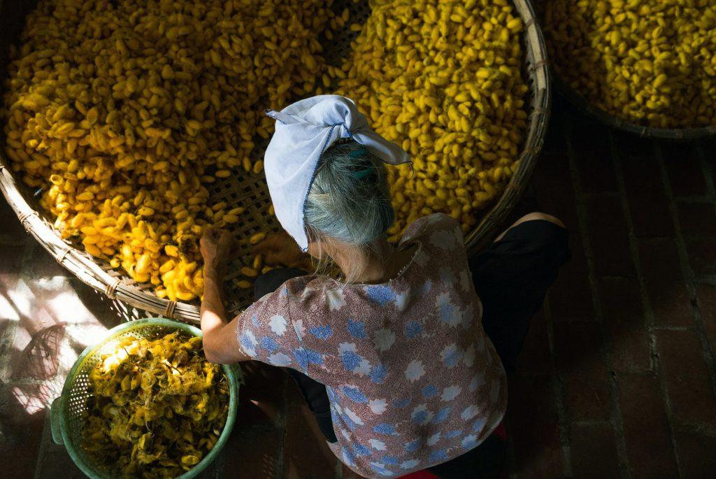 fabrication soie