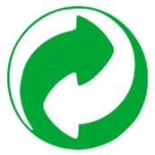 Logo recyclage point vert