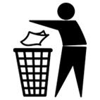 Logo recyclage tidy man
