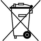 Logo recyclage poubelle barree