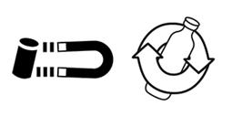 Logo recyclage alu verre acier